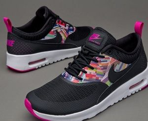 Nike Air Max Thea black N multi color size 5.5y